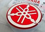 YAMAHA TUNINGエンブレムステッカーロゴ(50mm)/ RED - CHROME /その他のサイズ選択/ BODY GELレジン自立モト/ジェットスキー/ ATV /スノーモビル(50mm)