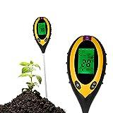 KKmoon 4-in-1 土壌テスター 土壌酸度/照度/水分含有量/温度測定 PHテスター 水分計 土壌測定器