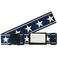 バンガード スーツケースベルト 紺×白 幅約5cm×使用長さ約172cm