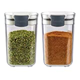 Progressive International PKS-410 Prepworks SEASONING KEEPERS, 2 Piece, Clear