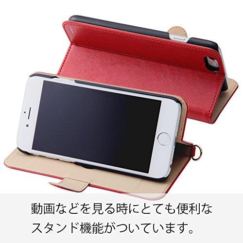 レイ・アウト iPhone6用 ディズニー 銀箔押し手帳型レザーケース (ICカード収納ポケット / スタンド機能 / Dリング付) ドナルドダック RT-DP7I/DD