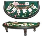 商標ポーカーブラックジャックミニチュア36-inch X 18.5インチテーブル
