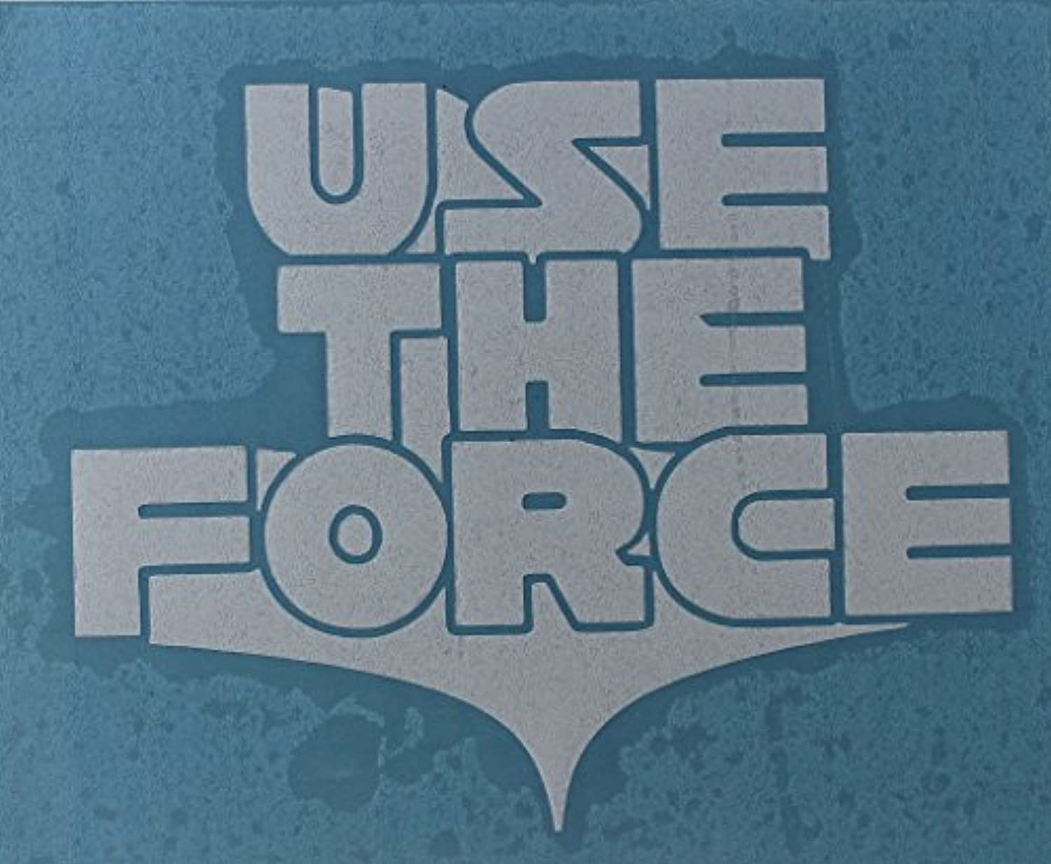 Licenses Products Star Wars Use the Force rub-onステッカー、ホワイト