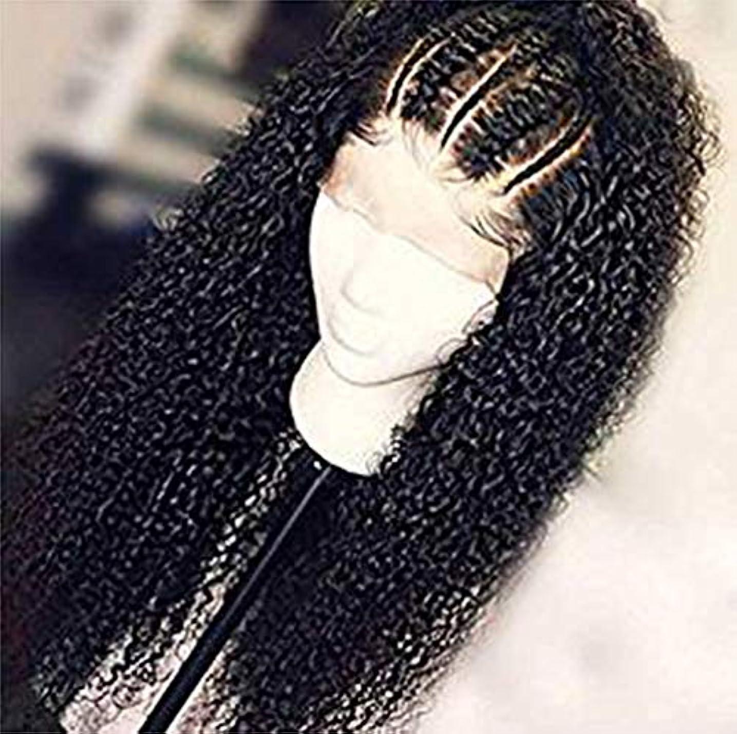 唯物論モバイル市長9a女性人毛レースフロントかつら水波未処理のバージンヘアかつらブラジル水波髪130%密度