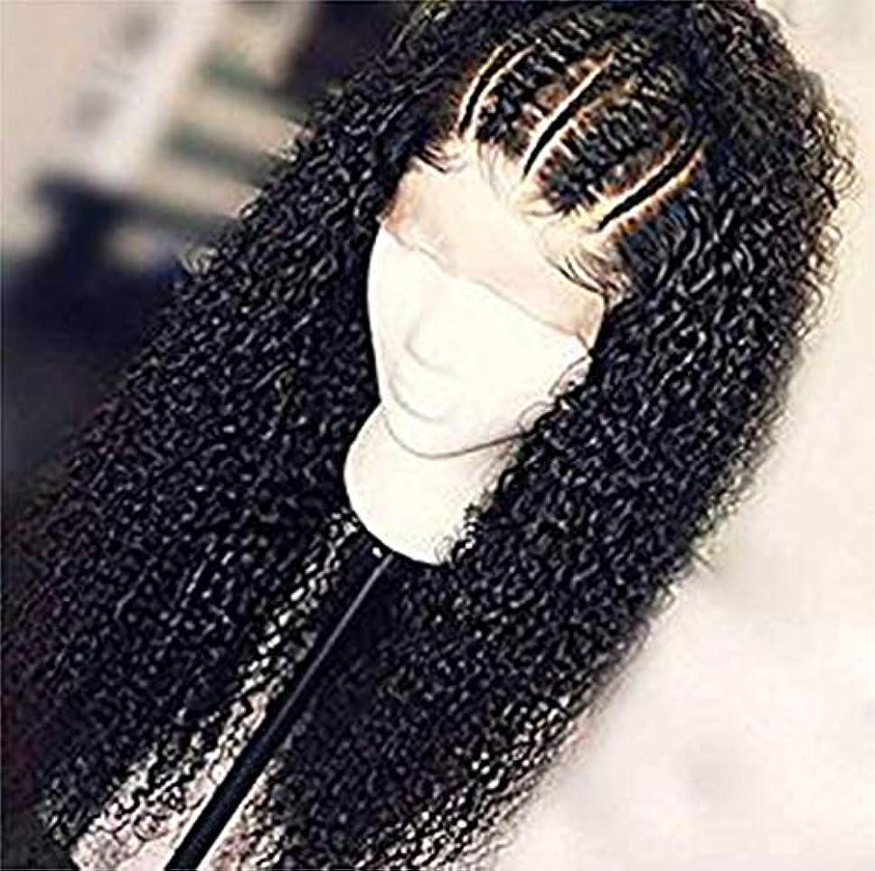 大声で縞模様の行商9a女性人毛レースフロントかつら水波未処理のバージンヘアかつらブラジル水波髪130%密度