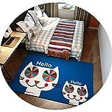 家庭用漫画子供クライミングマット寝室のベッドサイドカーペットキッチンベイウィンドウポーチマット環境保護ウォッシュ,KT-05,80×200cm