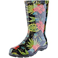 Sloggers Women's Waterproof Rain and Garden Boot with Comfort Insole Midsummer Black Size 8 Style 5002BK08