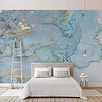 Wxmca カスタム写真の壁紙3Dステレオブルーテクスチャ大理石の壁紙壁画リビングルームテレビソファ寝室研究の装飾-250X175Cm