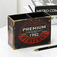 ZHPLZD ヨーロッパフラミンゴペンボックスクリエイティブ家庭用品デスクペンホルダー文房具リモコンレザー収納ボックス15.5cmX11.2cmX7cm (Color : C, Size : L)