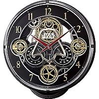 リズム RHYTHM KARAKURI CLOCK PREMIUM スター・ウォーズ 電波 掛け時計 4MN547MC02 ブラック[hk]