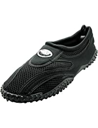 Men 's Wave水靴プールビーチで練習Aqua靴下、ヨガ、ダンス、ビーチスリッパドローストリング開閉