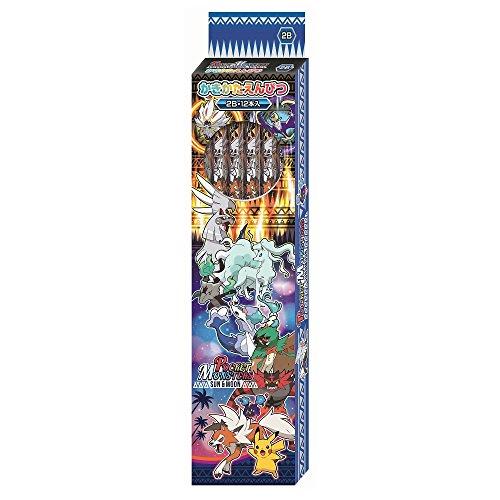 ポケモン かきかた鉛筆 2B サン&ムーン 銀軸 1ダース 418728004