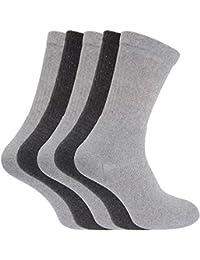 (フロソ) FLOSO メンズ コットンリッチ 無地スポーツソックス 紳士靴下セット ソックスセット(5足組) 男性用