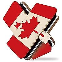 [KEIO ブランド 正規品] iPhone6s ケース 手帳型 国旗 6s 手帳型ケース 国旗 iPhone6s 旗 アイフォン ケース アイフォン6s シンプル ittn世界の国旗カナダt0372