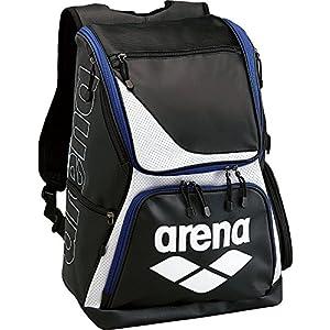 arena(アリーナ) 水泳用 スイマーズ エナメル リュック ブラック×ブルー ARN-6431 BLK