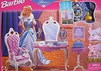 Barbie ROMANTIC PRINCESS parlour Playset w THRONE, Magical sceptre & MORE (1998 Arcotoys, Mattel)