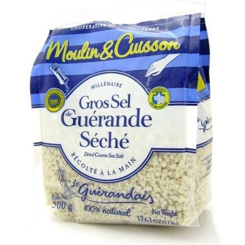 ゲランドの塩/ 乾燥粗塩/ グロ・セル(粗粒)/Sel de Guerande Gros sel marin 【ラージサイズ/500g】/スパイス・ハーブ・香辛料・調味料