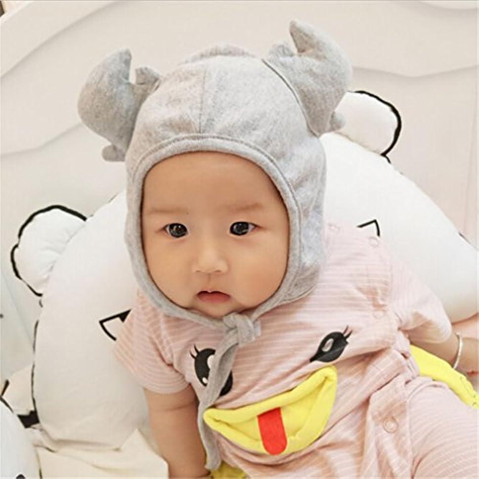 失業者賛辞発信travet赤ちゃん男の子女の子Antlers暖かい保護耳調節可能な帽子ビーニーキャップTieキャップ As Description グレー 26
