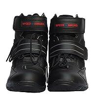 バイク用ブーツ メンズ ショートブーツ ライダーブーツ レーシング バイカー オフロード ブーツ シューズ 靴 (44, ブラック)
