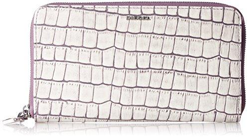 (ディーゼル) DIESEL レディース 型押しデザイン 長財布 SOFTCROKK GRANATO II - wallet X05213PS949