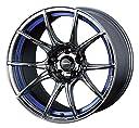 【スバル フォレスター(SG系)2002~2007】 ホイール:WEDS ウェッズスポーツ SA-10R_ブルーライトクローム 7.5-18 5/100 タイヤ:YOKOHAMA Bluearth エース AE50 225/45R18 (18インチ アルミホイールセット)
