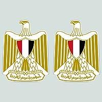 2つパックエジプトの国章ステッカーダイカットデカール自己粘着FAビニール