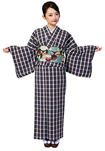 伊勢木綿 小紋 おしゃれ着物 仕立て上がり 広衿 単衣 居敷当付き (紫)