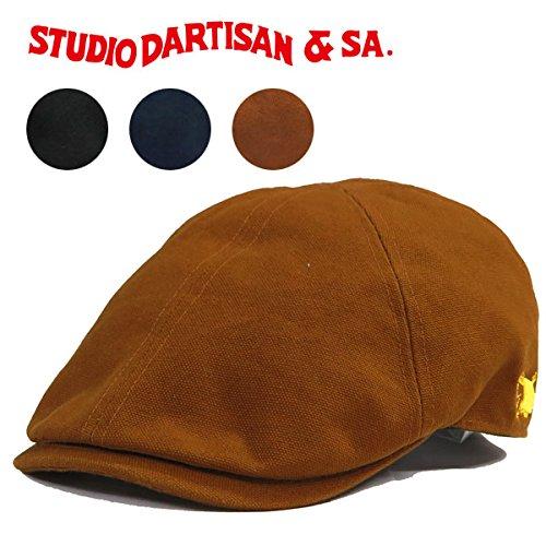 (ステュディオ・ダ・ルチザン)STUDIO D'ARTISAN STUDIO 6パネル D'ARTISAN ハンチング キャップ ダック地 SD7419 フリーサイズ ブラック
