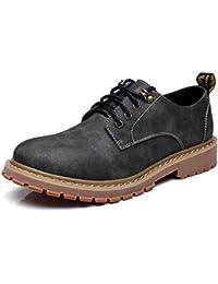 AmazingJP ブーツ ワークブーツ メンズ カジュアルシューズ 靴 革靴 シューズ イエロー グレー ブラウン レースアップ