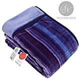 昭和西川(Showa-nishikawa) 毛布 ブルー シングル 暖ふわ肌触りなめらか2枚合わせ毛布 2230545050309