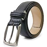 Dolce Margarita(ドルチェマルガリータ) イタリア本革ベルト メンズ 革幅3.5cm 黒 dmp-51-a-bk