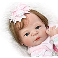 SanyDoll Rebornベビー人形ソフトSilicone 22インチ55 cm磁気Lovely Lifelike Cute Lovely Baby b0763llvkv