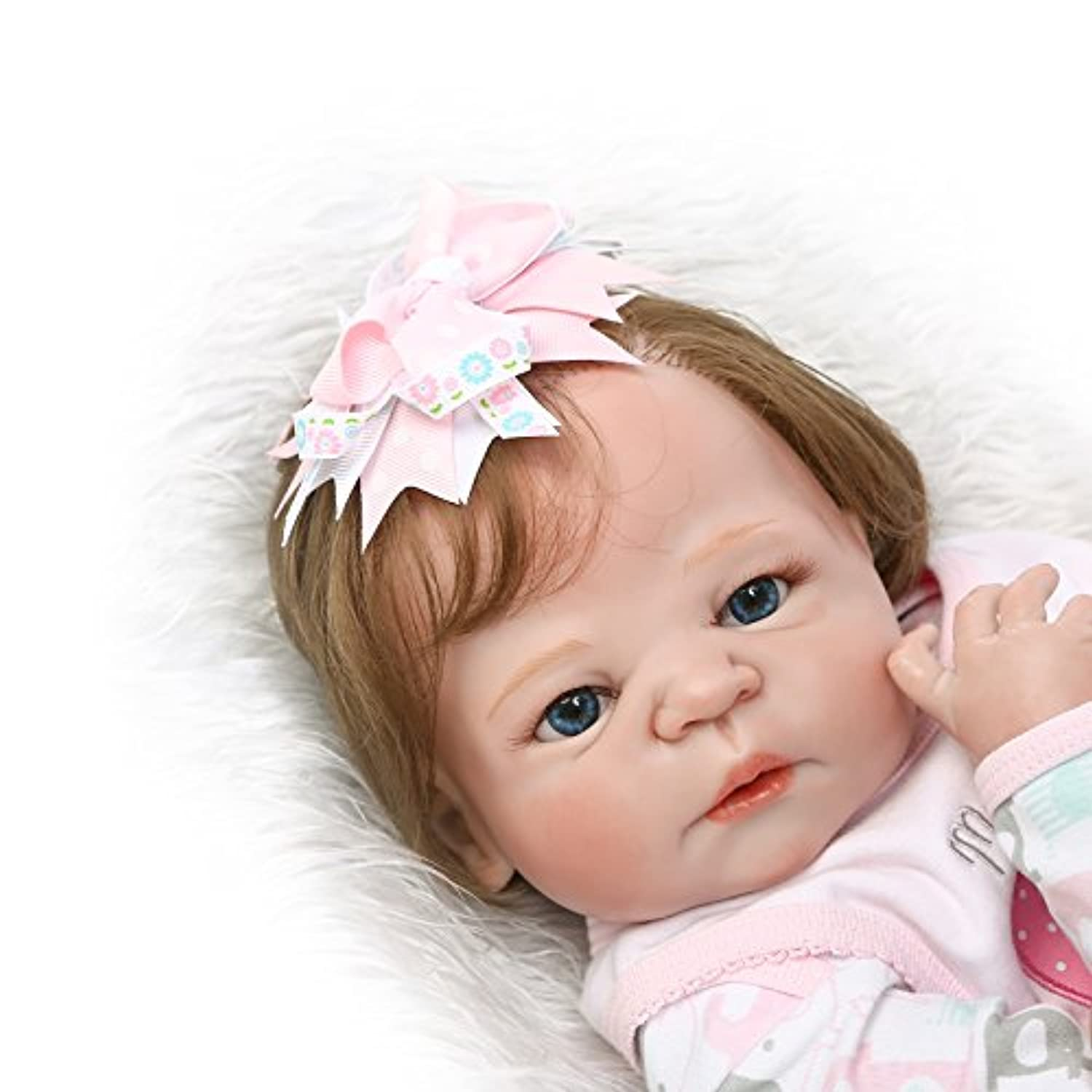 SanyDoll Rebornベビー人形ソフトSilicone 22インチ55 cm磁気Lovely Lifelike Cute Lovely Baby b0763llvkv