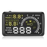 【ノーブランド品】カー HUD ヘッドアップ ディスプレイ 速度警報 OBD2  W02 警告シフト  燃料消費量 運転走行距離の測定