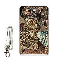 ICカード用パスケース 定期入れ 浮世絵 歌川国芳 龍と虎