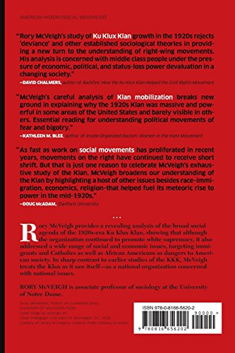 The Rise of the Ku Klux Klan: Right-Wing Movements and National Politics (Social Movements, Protest and Contention)