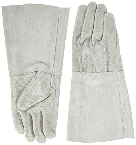 TRUSCO 牛床革手袋 袖長タイプ フリーサイズ 1双 JT-5L