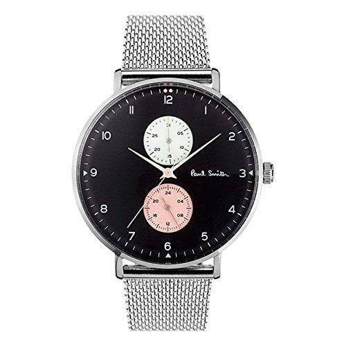 [ポールスミス]PAUL SMITH メンズ トラック 42mm ブラック文字盤 シルバー メッシュ ステンレス PS0070006 腕時計 [並行輸入品]