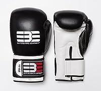 ボクシンググローブ–12oz Professional cow-hideレザー手袋をEBE with Free Handwraps ブラック