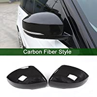 Carbon Fiber Style For Range Rover Sport RR Sport 2014-17 ABS Plastic Side Rearview Mirror Cover Trim For Landrover Discovery 4