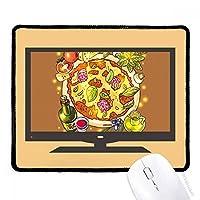 野菜のピザイタリア食品茶 マウスパッド・ノンスリップゴムパッドのゲーム事務所