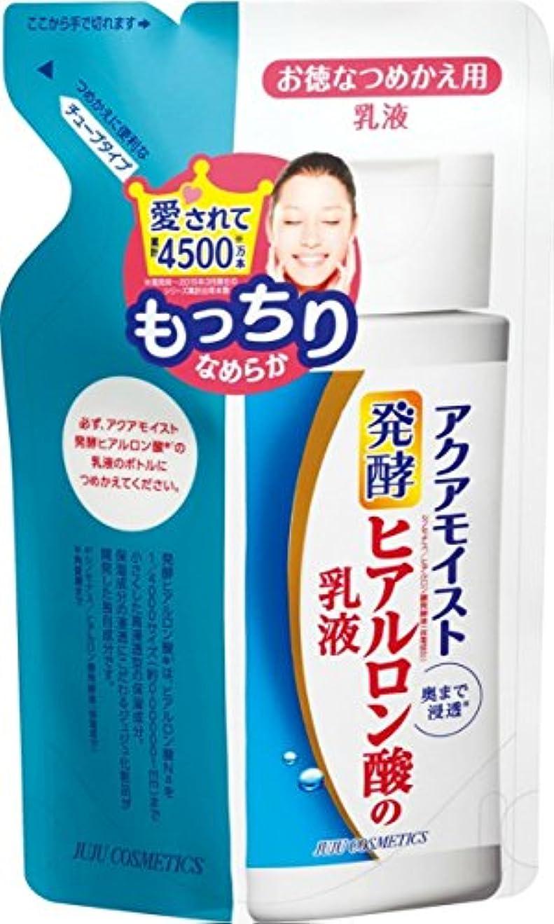 秘密の騒ぎ記念日アクアモイスト 発酵ヒアルロン酸の保湿乳液(詰め替え用) もっちりぷるぷる 130ml