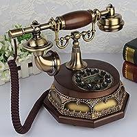 電話 レトロ電話家庭有線ディスクキーダイヤル固定電話ブルースクリーンバックライト Rollsnownow