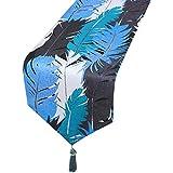 青いテーブルランナー、ダイニングテーブルのサテンテーブルランナー、テレビのキャビネット、コーヒーテーブル、靴のキャビネット、ポーチ(2色と4サイズで利用可能) (色 : B, サイズ さいず : 33cm×230cm)