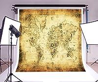 laeacco背景8x 8ft写真ビニールバックドロップレトロ世界マップアートギャラリー背景写真スタジオ小道具カスタマイズ