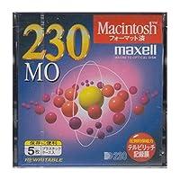 Macフォーマット済み 3.5インチ 230MB MOメディア 5枚パック maxell MA-M230.MAC.A5P