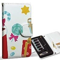 スマコレ ploom TECH プルームテック 専用 レザーケース 手帳型 タバコ ケース カバー 合皮 ケース カバー 収納 プルームケース デザイン 革 クリスマス カラフル 009266