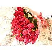 fleurcoco【フラワーギフト】贈り物に深紅のバラの花束30本 【お祝い 誕生日プレゼント 記念日 結婚祝いプレゼント】