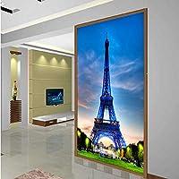 Xbwy フランスのランドマークエッフェル塔市建物写真3Dの壁紙壁3 Dリビングルーム通路不織壁画ロールスロイス寝室の装飾-280X200Cm