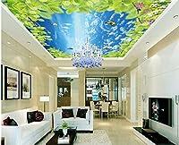 Wapel カスタムの壁紙の壁画 HD スカイブルースカイの天井 3 d の壁紙のリビングルームは家の装飾以外の壁紙天井織 絹の布 200x140CM